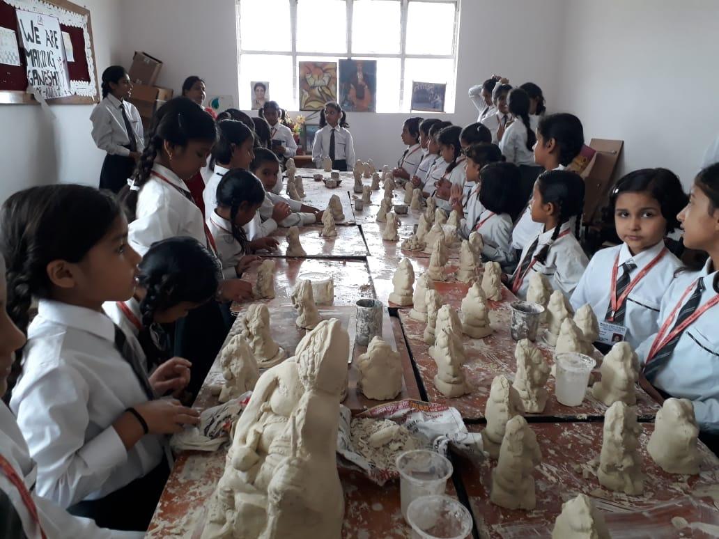 Clay Art Practice for Ganesh Utsav